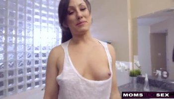Petite blonde girl fucks her ass with sex toys and sighs with delight