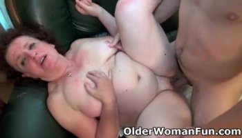 Sexy slender brunette milf has a fiery peach ready to be drilled hard