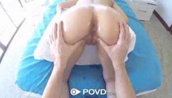 Tattooed blonde wife with wonderful big boobs fucks a huge black pole